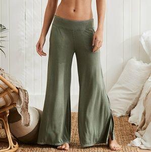 Olive palazzo pants